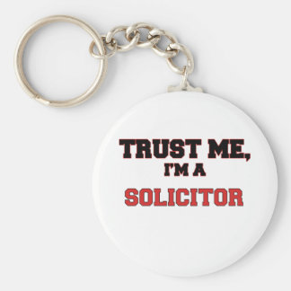 Trust Me I'm a My Solicitor Basic Round Button Key Ring