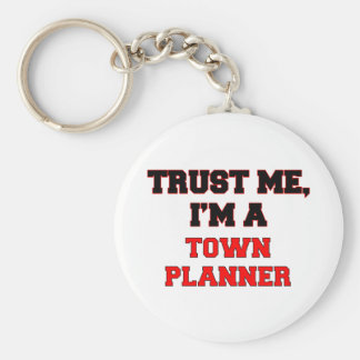 Trust Me I'm a My Town Planner Basic Round Button Key Ring