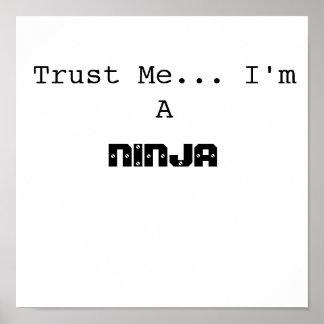 Trust Me... I'm A, NINJA Poster