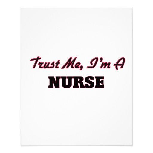 Trust me I'm a Nurse Personalized Flyer