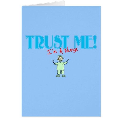 Trust Me I'm A Nurse stick RN Cards