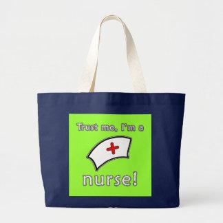 Trust Me I'm a Nurse T shirts, Hoodies, Caps Large Tote Bag