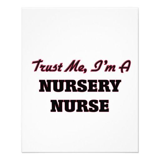 Trust me I'm a Nursery Nurse Flyer Design