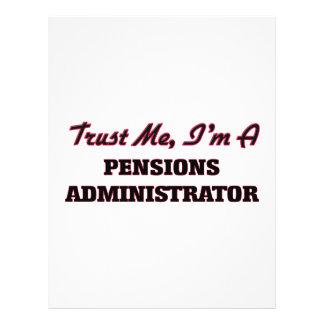 Trust me I'm a Pensions Administrator 21.5 Cm X 28 Cm Flyer