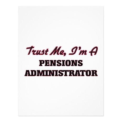 Trust me I'm a Pensions Administrator Custom Flyer