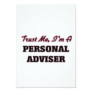 Trust me I'm a Personal Adviser 13 Cm X 18 Cm Invitation Card