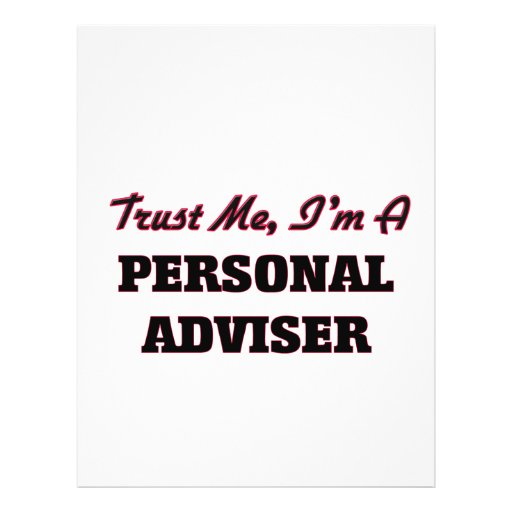 Trust me I'm a Personal Adviser Personalized Flyer