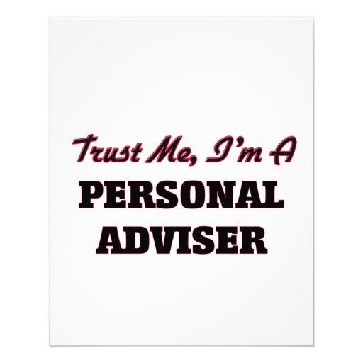 Trust me I'm a Personal Adviser Flyer Design