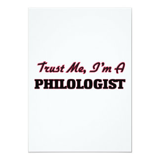 Trust me I'm a Philologist 13 Cm X 18 Cm Invitation Card