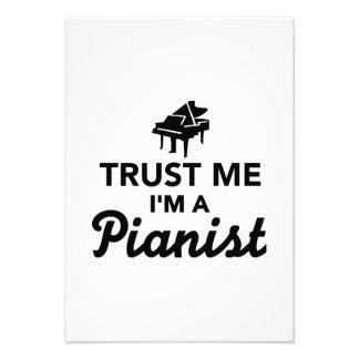 Trust me I'm a Pianist Custom Invitations