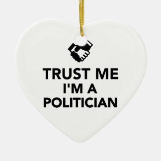 Trust me I'm a Politician Christmas Tree Ornament