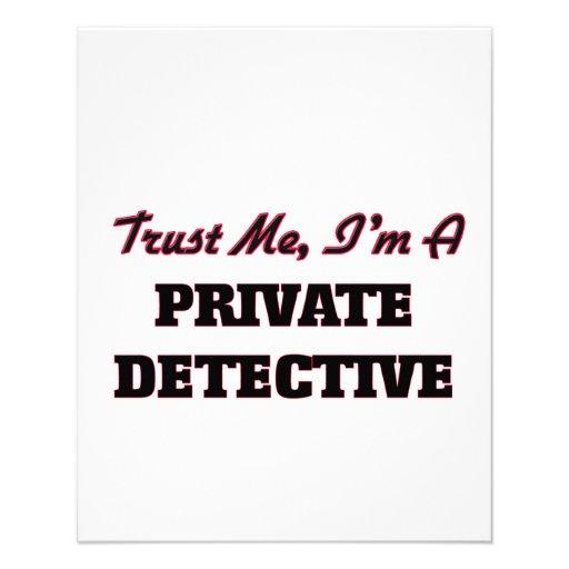 Trust me I'm a Private Detective Flyer Design