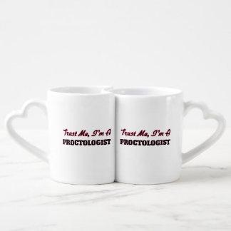 Trust me I'm a Proctologist Couple Mugs