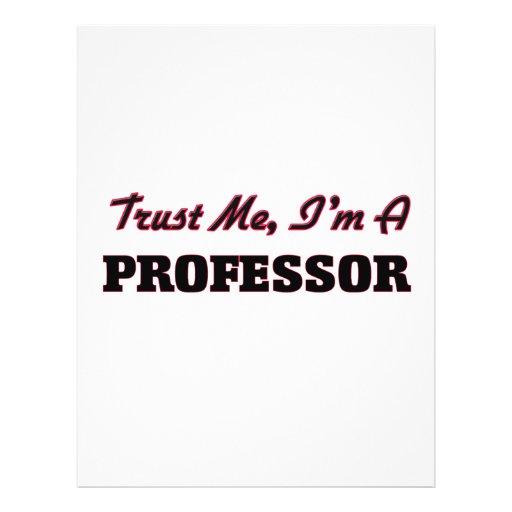 Trust me I'm a Professor Personalized Flyer
