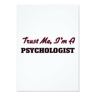 Trust me I'm a Psychologist 13 Cm X 18 Cm Invitation Card