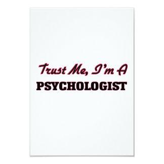 "Trust me I'm a Psychologist 3.5"" X 5"" Invitation Card"