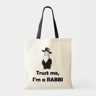 Trust me I'm a rabbi - Funny jewish humor Bags