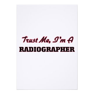 Trust me I'm a Radiographer Personalized Invitation