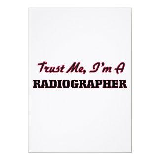 Trust me I'm a Radiographer Personalized Invitation