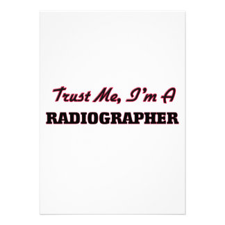 Trust me I'm a Radiographer Personalized Announcements