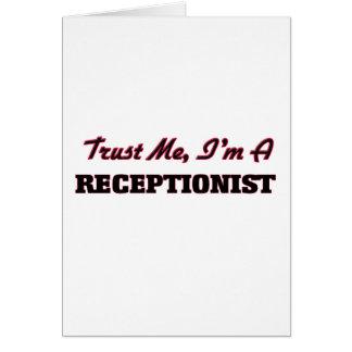Trust me I'm a Receptionist Card