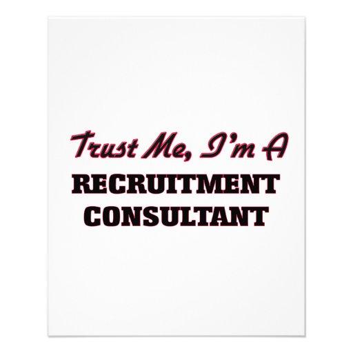 Trust me I'm a Recruitment Consultant Flyer