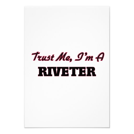 Trust me I'm a Riveter Personalized Announcements
