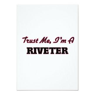 Trust me I'm a Riveter 13 Cm X 18 Cm Invitation Card