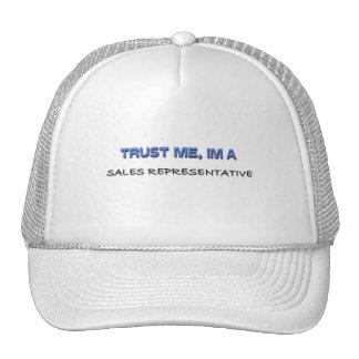 Trust Me I'm a Sales Representative Trucker Hats