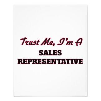 Trust me I'm a Sales Representative Custom Flyer