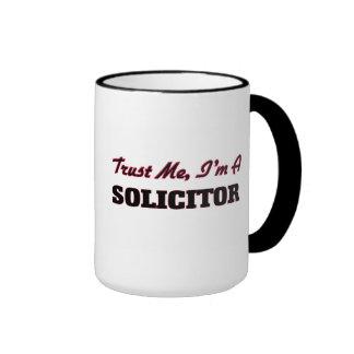Trust me I'm a Solicitor Ringer Mug