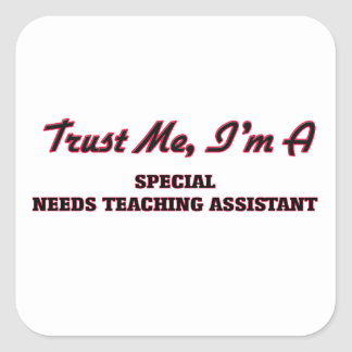 Trust me I'm a Special Needs Teaching Assistant Square Stickers