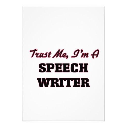 Trust me I'm a Speech Writer Card