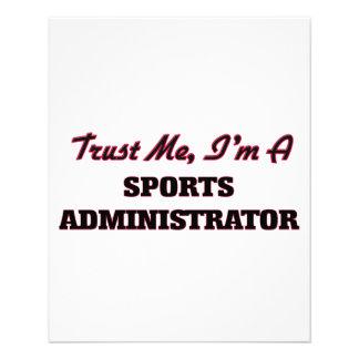 Trust me I'm a Sports Administrator Flyer Design