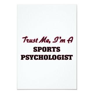 """Trust me I'm a Sports Psychologist 3.5"""" X 5"""" Invitation Card"""