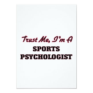 Trust me I'm a Sports Psychologist 13 Cm X 18 Cm Invitation Card