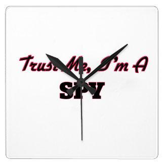 Trust me I'm a Spy Wallclock
