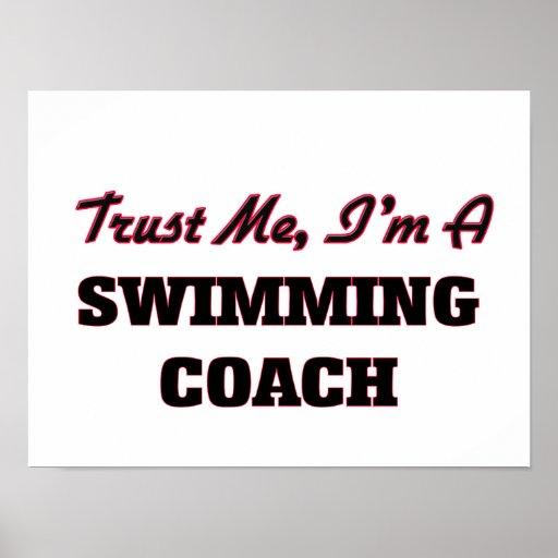 Trust me I'm a Swimming Coach Poster