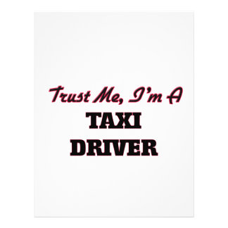 Trust me I'm a Taxi Driver Flyer Design
