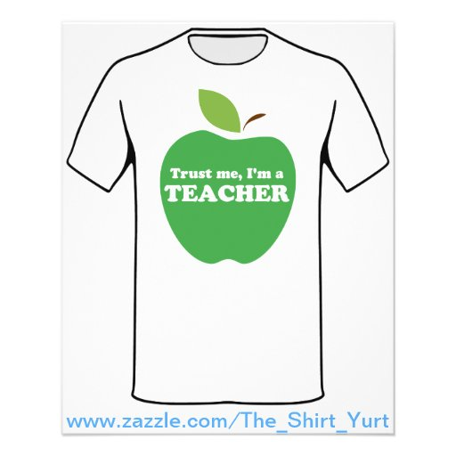 Trust Me, I'm a Teacher Red Apple Full Color Flyer
