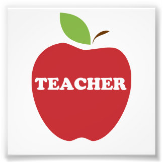 Trust Me, I'm a Teacher Red Apple Photo Print