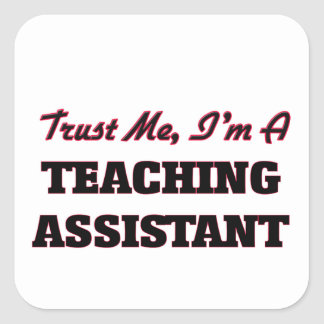 Trust me I'm a Teaching Assistant Square Sticker