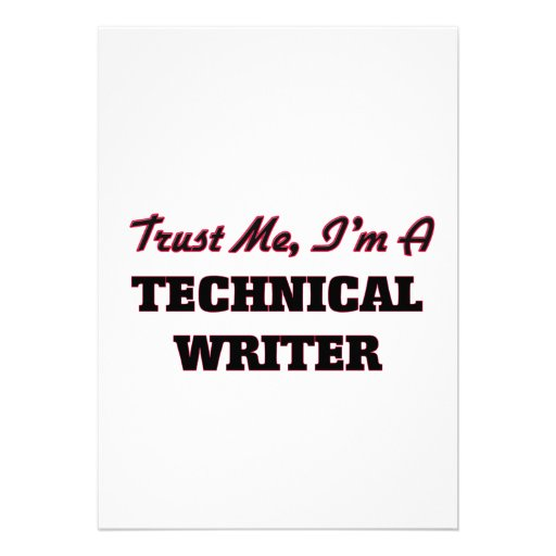 Trust me I'm a Technical Writer Custom Invites