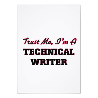 Trust me I'm a Technical Writer Personalized Invites