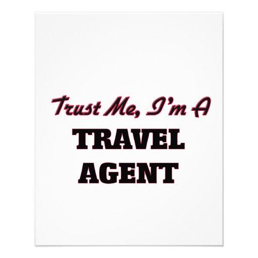 Trust me I'm a Travel Agent Custom Flyer