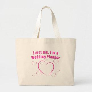 Trust Me I'm a Wedding Planner Jumbo Tote Bag