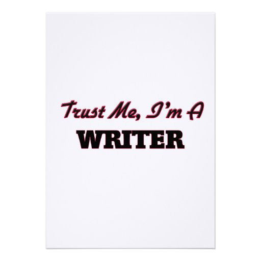 Trust me I'm a Writer Personalized Announcements