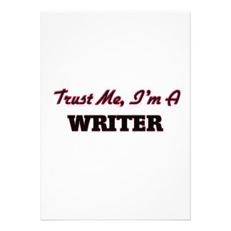 Trust me I'm a Writer Custom Invitations