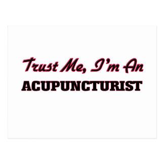 Trust me I'm an Acupuncturist Postcard