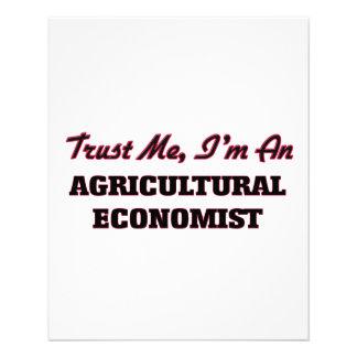 Trust me I'm an Agricultural Economist Flyer Design